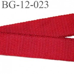 Galon ruban bretelle lingerie gros grain polyamide largeur 12 mm couleur rouge  très solide prix au mètre