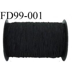 bobine 400 m de fil élastique smock fronceur gomme couleur noir longueur 400 mètres diamètre 1 mm