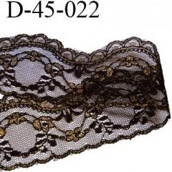 dentelle 45 mm synthétique couleur noir et or largeur 45 mm prix au mètre