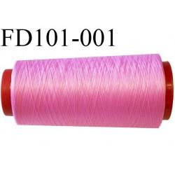 Déstockage Cone de 2000 m  de fil mousse polyester  fil n° 165 couleur  rose tirant vers le fushia  bobiné en France