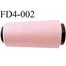 Destockage cone 2000 mètres de fil mousse polyamide fil n°100/2 couleur rose pétale bobiné en France
