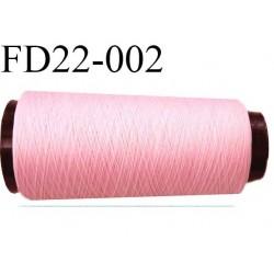 Destockage cone 2000 mètres de fil mousse polyamide fil n°110/2 couleur rose  bobiné en France