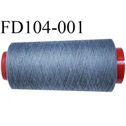 Destockage Cone 1000 m de fil  polyester  fil n°35 couleur gris cone 1000 mètres bobiné en France