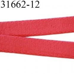 Elastique  plat 12 mm  bretelle et lingerie couleur rouge coraille sweat  superbe  qualité haut de gamme prix au mètre