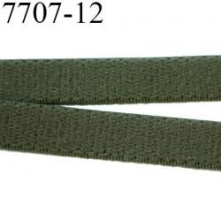 Elastique  plat 12 mm  bretelle et lingerie couleur kaki militaire  superbe  qualité haut de gamme prix au mètre