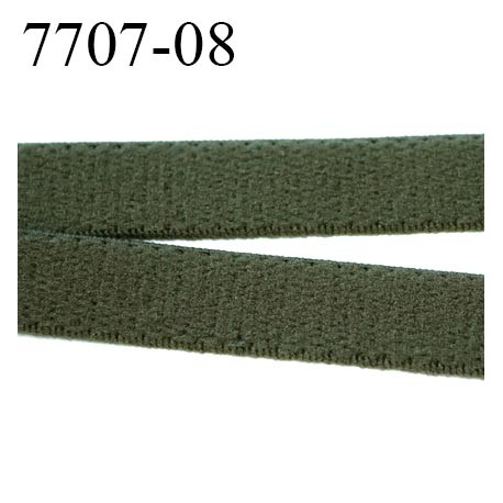 lastique plat largeur 8 mm couleur vert kaki militaire vendu au m tre mercerie extra. Black Bedroom Furniture Sets. Home Design Ideas