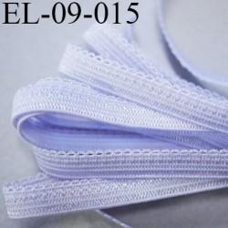 élastique 9 mm picot lingerie boucles couleur lilas violine lumineux largeur 9 mm prix au mètre