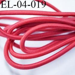 élastique cordon gomme très belle qualité très très solide couleur rouge diamètre 4 mm prix au mètre