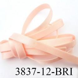 Elastique bretelle lingerie largeur 12 mm couleur rose pétale brillant superbe  très belle qualité haut de gamme prix au mètre
