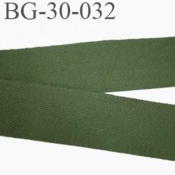 biais sergé 30 mm 100 % coton superbe souple galon ruban couleur vert kaki largeur 30 mm prix au mètre