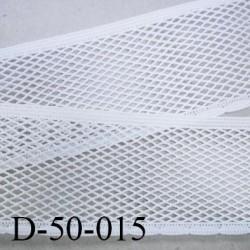 dentelle 50 mm élastique  galon couleur blanc élasticité 40 %  largeur 50 mm prix au mètre