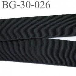 Galon ruban gros grain100 % coton superbe souple et doux galon ruban couleur noir largeur 30 mm vendu au mètre
