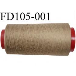 Destockage cone de 2000 M de fil mousse polyamide fil n°120 couleur bronze clair   longueur du cone 2000 mètres bobiné en France