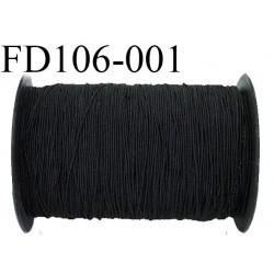 Destockage Grosse bobine de 700 m de fil élastique smock fronceur gomme couleur noir longueur 700 mètres diamètre 0.8 mm