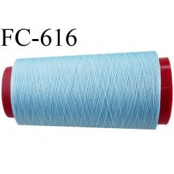 Cone de 2000 m de fil élastique couleur bleu ciel spécial pour aiguille surjeteuse canette machine fil n° 120