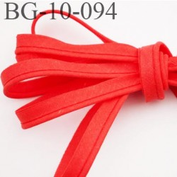passe poil 10 mm couleur corail avec cordon intérieur coton  largeur 10 mm prix au mètre