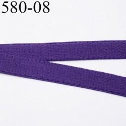 élastique plat largeur 8 mm couleur violet  prix pour 1 mètre de longueur