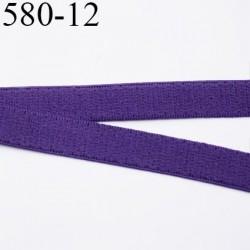 élastique plat largeur 12 mm couleur violet vendu au mètre