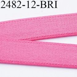 Elastique bretelle plat largeur 10 mm couleur rose confetti  brillant superbe  très belle qualité haut de gamme prix au mètre