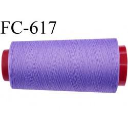 Cône de 1000 mètres fil mousse polyamide n° 120 couleur violet longueur de 1000 mètres bobiné en France