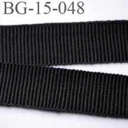galon ruban gros grain couleur noir et très solide souple en coton largeur 15 mm prix au mètre