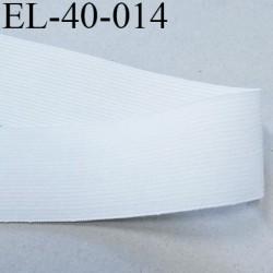 élastique plat  belle qualité souple couleur blanc largeur 40 mm souple  prix au mètre