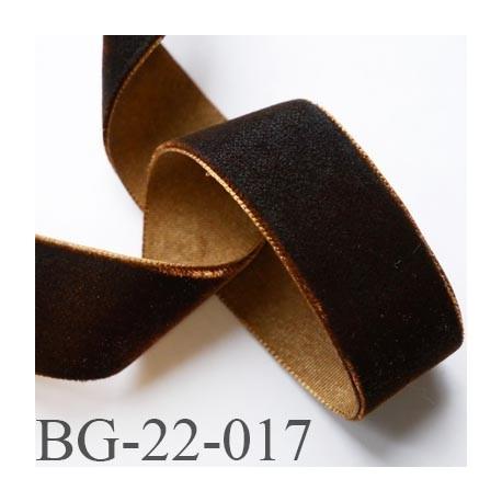 galon ruban 22 mm en velours couleur marron avec des reflets cuivre souple et doux largeur 22 mm. Black Bedroom Furniture Sets. Home Design Ideas