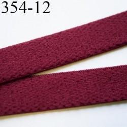 élastique 12 mm bretelle et lingerie largeur 12 mm couleur rubis  haut de gamme très doux prix au mètre