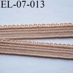 élastique picot 7 mm lingerie culottes plat boucles  couleur sable core superbe  largeur 7 mm prix au mètre
