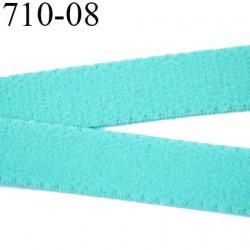 élastique plat largeur 8 mm couleur agua vert  prix pour 1 mètre de longueur