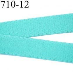 élastique plat largeur 12 mm couleur vert aqua  vendu au mètre