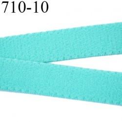 élastique 10 mm bretelle et lingerie largeur 10 mm couleur vert aqua  haut de gamme prix au mètre
