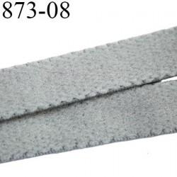 élastique plat largeur 8 mm couleur gris souris  prix pour 1 mètre de longueur