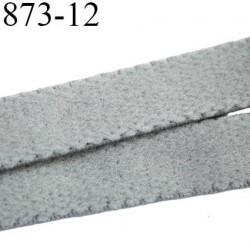 élastique plat largeur 12 mm couleur gris souris vendu au mètre