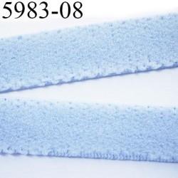 élastique plat largeur 8 mm couleur bleu dioriever  prix pour 1 mètre de longueur