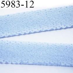élastique plat largeur 12 mm couleur bleu diorever vendu au mètre