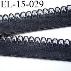 Destockage élastique 15 mm picot  plat largeur 15 mm couleur noir prix au mètre