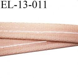 élastique plat bande anti glisse haute gamme superbe qualité couleur beige rosé largeur 13 mm  bande lastin  silicone
