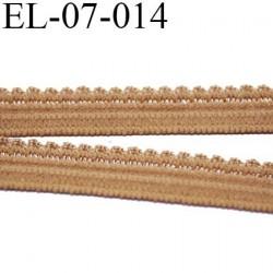 élastique picot 7 mm lingerie culottes plat boucles  couleur cannelle tatoo superbe  largeur 7 mm prix au mètre