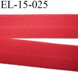 élastique plat  pré plié au centre superbe souple belle qualité couleur bordeau clair  largeur 15 mm prix au mètre