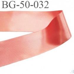 galon ruban satin 50 mm brillant couleur saumon très belle qualité largeur 30 mm prix au mètre