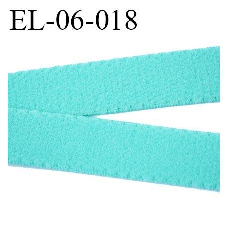 élastique 6 mm bretelle ou lingerie largeur 6 mm couleur vert aqua  haut de gamme prix au mètre