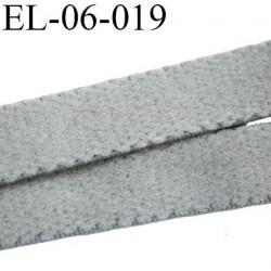 élastique 6 mm bretelle ou lingerie couleur gris souris haut de gamme largeur 6 mm  prix au mètre