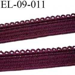 élastique picot plat boucles couleur bordeau largeur 9 mm prix au mètre