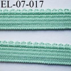 élastique picot 7 mm lingerie et culottes plat boucles  couleur vert superbe  haut de gamme largeur 7 mm prix au mètre