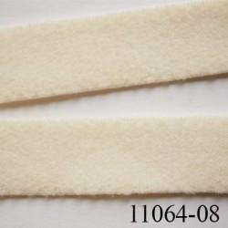 élastique plat  largeur 8 mm couleur beige perle vendu au mètre