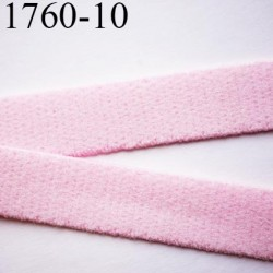 élastique plat largeur 10 mm couleur rose poudre parade vendu au mètre