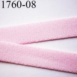 élastique plat largeur 8 mm couleur rose poudre parade  prix pour 1 mètre de longueur