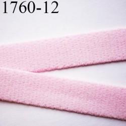 élastique bretelle ou  lingerie plat largeur 12 mm haut de gamme couleur rose poudre parade  prix au mètre