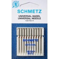 Aiguille Schmetz Universal 130/705 H 80/12 la boite de 10 aiguilles